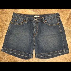 LEVIS 515 Blue Jean Shorts Womens Size 14